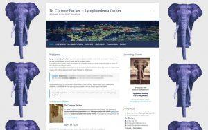 Website screenshot - Lymphoedema Center.com
